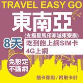 【即期出清】東南亞上網卡 8日 4G上網不斷網 吃到飽上網SIM卡