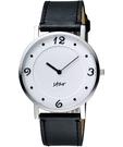 STAR 藝術時尚簡約風情腕錶-白x黑 9T1407-431S-W