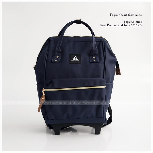 後背包-素面/條紋/迷彩拉桿後背包(小)-共4色-A12121022-天藍小舖