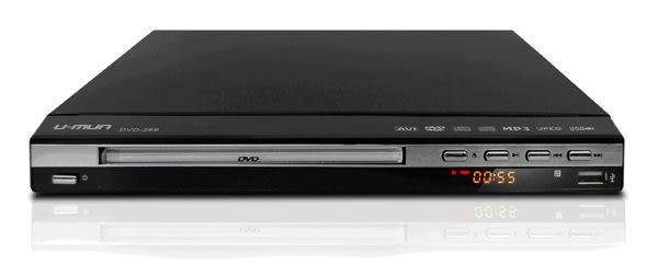 【中彰投電器】U-MUN(DIVX/USB)DVD播放器,DVD-268【全館刷卡分期+免運費】外掛SRT中文字幕檔~