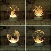 現貨創意DIY刻字麋鹿3D插電小夜燈夢幻LED臥室床頭燈檯燈迷你柔光 生日禮物 尾牙禮物