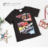 純棉閃電麥坤車隊印花短T 上衣短袖竹節棉復古美式卡通男童T 恤【哎北比 】