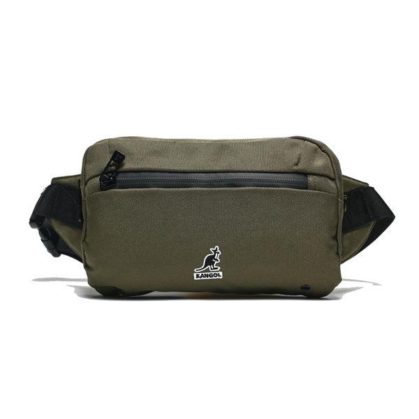 KANGOL 軍綠色 腰包 帆布 英國 電繡LOGO 袋鼠 (布魯克林) 6955300270
