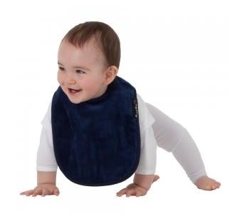紐西蘭 Mum 2 Mum 機能型神奇口水巾圍兜-寶寶款-深藍 吃飯衣 口水衣 防水衣