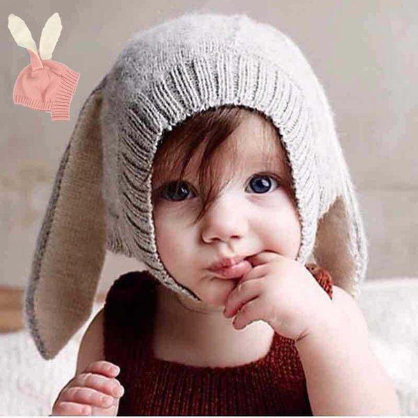 毛帽 針織帽 帽子 兔兔耳朵 防寒 保暖 舒服職料  二色  寶貝童衣