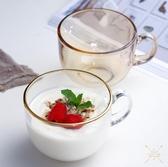 早餐杯 金邊燕麥杯大容量大號玻璃杯簡約家用早餐牛奶杯酸奶喝粥喝水杯子-快速出貨