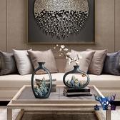 中國風裝飾品花瓶擺件干花客廳擺設插花茶室個性創意【古怪舍】