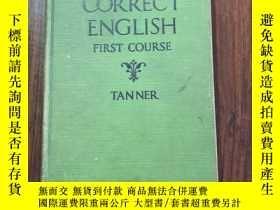 二手書博民逛書店Correct罕見English first course 英文