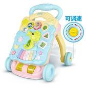 嬰兒學步車手推車多功能防側翻6-7-18月寶寶可調速助步車音樂玩具 YYP  走心小賣場