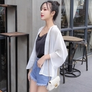 雪紡防曬衣(兩色) 女夏款韓版短款仙女開衫百搭空調衫寬松 沙灘外套