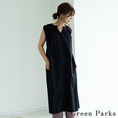 「Autumn」前扣造型無袖連身洋裝 - Green Parks