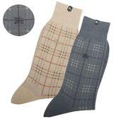 BURBERRY經典格紋刺繡戰馬LOGO紳士襪(2色)088905