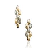 耳環 玫瑰金 925純銀鑲鑽-個性麥穗生日情人節禮物女飾品73gs195【時尚巴黎】