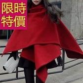 斗篷外套-騎士風羊毛呢日韓保暖女披風外套1色61o2【巴黎精品】