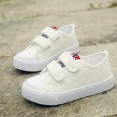男童鞋男孩夏季帆布鞋板鞋運動小白球鞋 全館免運