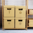 收納箱牛皮紙裝書零食雜物收納有蓋搬家整理【奇趣小屋】