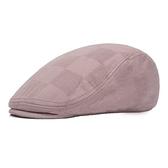 鴨舌帽-簡約格子純色棉質男女貝雷帽4色73tv160[時尚巴黎]