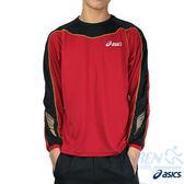 ASICS亞瑟士 背部保暖長袖T恤(紅) 翼系列運動長T 舒適質感 排汗快乾