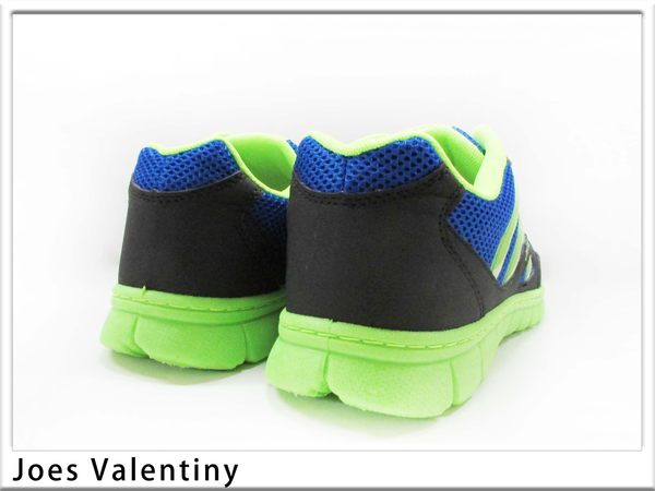『雙惠鞋櫃』◆Joes Valentiny ◆網布異材質拼貼  男運動休閒鞋 ◆台灣製 (JV955) 黑藍、藍綠