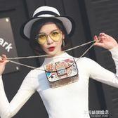 女包可愛涂鴉鎖扣小方包鍊條包學生包包單肩斜跨包手機包 多莉絲旗艦店