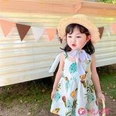 女童吊帶洋裝 女童吊帶連身裙子夏季純棉女寶韓版洋氣寶寶時尚款度假嬰幼兒童裝 小天使