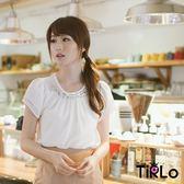 上衣-Tirlo-寶石項鍊雪紡上衣(附小可愛)