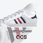 adidas 休閒鞋 Superstar 白 紅 藍 男鞋 女鞋 貝殼頭 運動鞋 【ACS】 FX2328