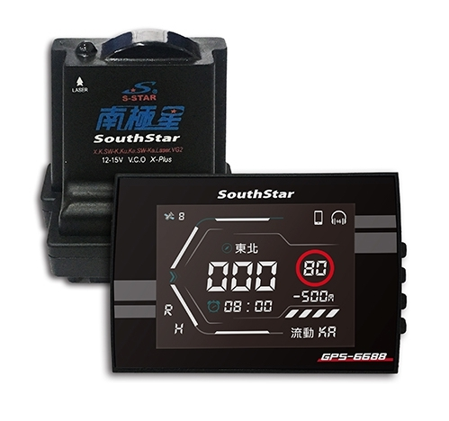 【車王小舖】南極星 GPS-6688 液晶彩屏 分體測速器 APP手機回控 APP雲端全自動更新 內建藍芽