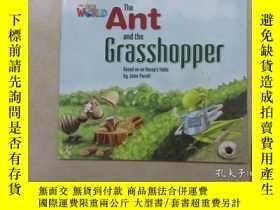 二手書博民逛書店英文書;罕見THE Ant and the grasshoppe