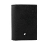 【MONT BLANC】匠心系列對開名片/卡片夾(黑/藍色) 116344