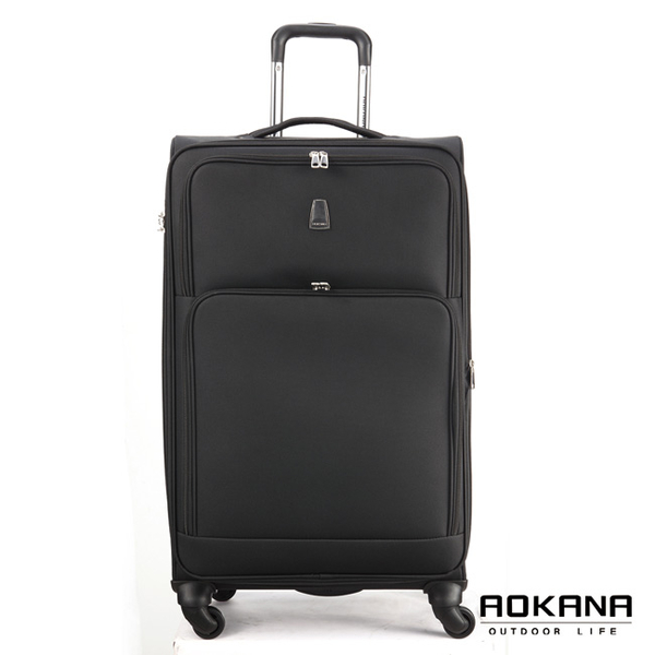 AOKANA奧卡納 20吋 經典輕量防潑水商務旅行箱(黑)99-045C