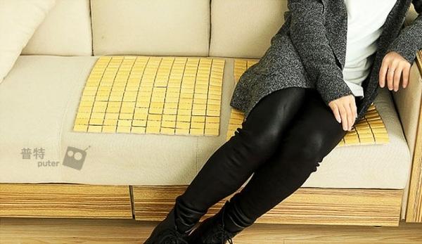台灣現貨-43x43cm夏季麻將席竹片坐墊 涼墊 汽車坐墊 汽車椅墊 涼感坐墊【CQ0202】普特車旅精品