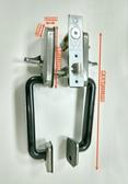SD2205-20 不銹鋼白鐵下座把手 門厚38-42MM 暗閂雙把手大把手 (二舌) 硫化銅門防盜門 門鎖 金冠