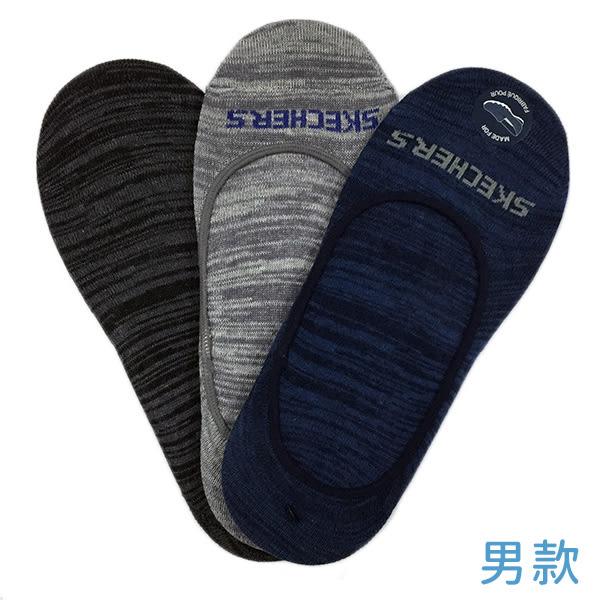 Skechers 男 運動船型襪(3雙入) 黑 灰 藍 健走鞋專用 隱形襪 排汗 透氣 防滑 運動 襪子 S107865-459