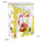 益智玩具-兒童玩具男女孩過家家清潔手推車打掃玩具廚房電動燈光吸塵器拖把-奇幻樂園