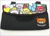 270A115    203G塗鴉小熊系列 紙巾套單入   衛生紙盒 遮陽板紙巾套 汽車遮陽板紙巾盒