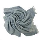 【COACH】大C LOGO羊毛混紡披巾圍巾禮盒(霧藍)