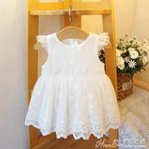禮服夏款童裝公主裙女寶寶嬰兒百日百天周歲禮服裙女童連身 曼莎時尚