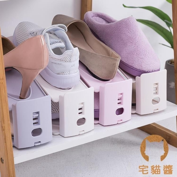 6個裝 鞋櫃鞋子收納鞋盒裝鞋透明收納盒整理收放鞋架【宅貓醬】