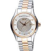 Ogival 愛其華 真鑽 Day-Date 機械腕錶-銀x雙色/40mm 3357-6AJMSR