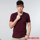 BOBSON 男款V領配色上衣(25020-16)