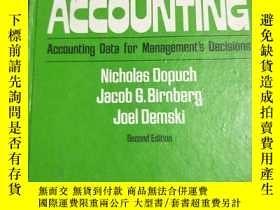 二手書博民逛書店COST罕見ACCOUNTING:Accounting Data for Management s Decisio