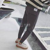 冬季男款運動褲  褲子男秋季新款休閒褲男韓版潮流小腳運動褲 俏女孩
