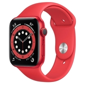 Apple Watch S6 GPS 44mm 紅色鋁金屬-紅色運動型錶帶【現貨 你的健康心生活】