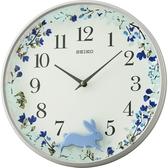SEIKO精工 跳躍小兔掛鐘-藍/33cm QXC238N