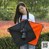 新款微單反相機百折布鏡頭包裹布攝影器材保護套內膽包防水收納包  玫瑰女孩