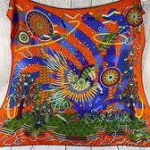 BRAND楓月 HERMES 愛馬仕 孔雀 花紋 馬 圖案 方巾 絲巾 綁帶 配件 裝飾