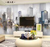 北歐藝術壁紙電視背景墻簡約現代客廳臥室工業風3d壁畫個性定制做【櫻花本鋪】