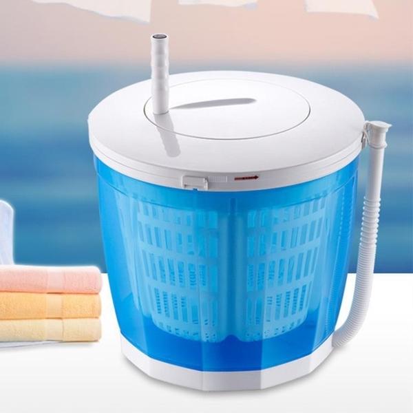 【快速出貨】 手搖洗衣機 迷你小型脫水機 甩乾器 洗脫兩用半自動洗衣機