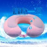 枕頭夏天清涼枕夏季凝膠U形涼枕降溫車用辦公旅行午休護頸枕冰枕